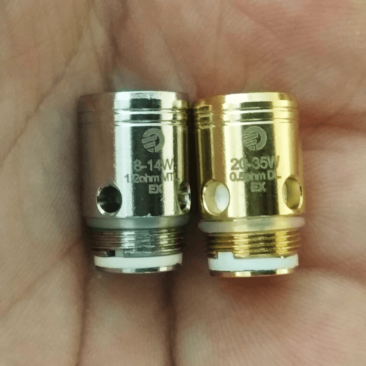 Joyetech Exceed D19 coil heads side view
