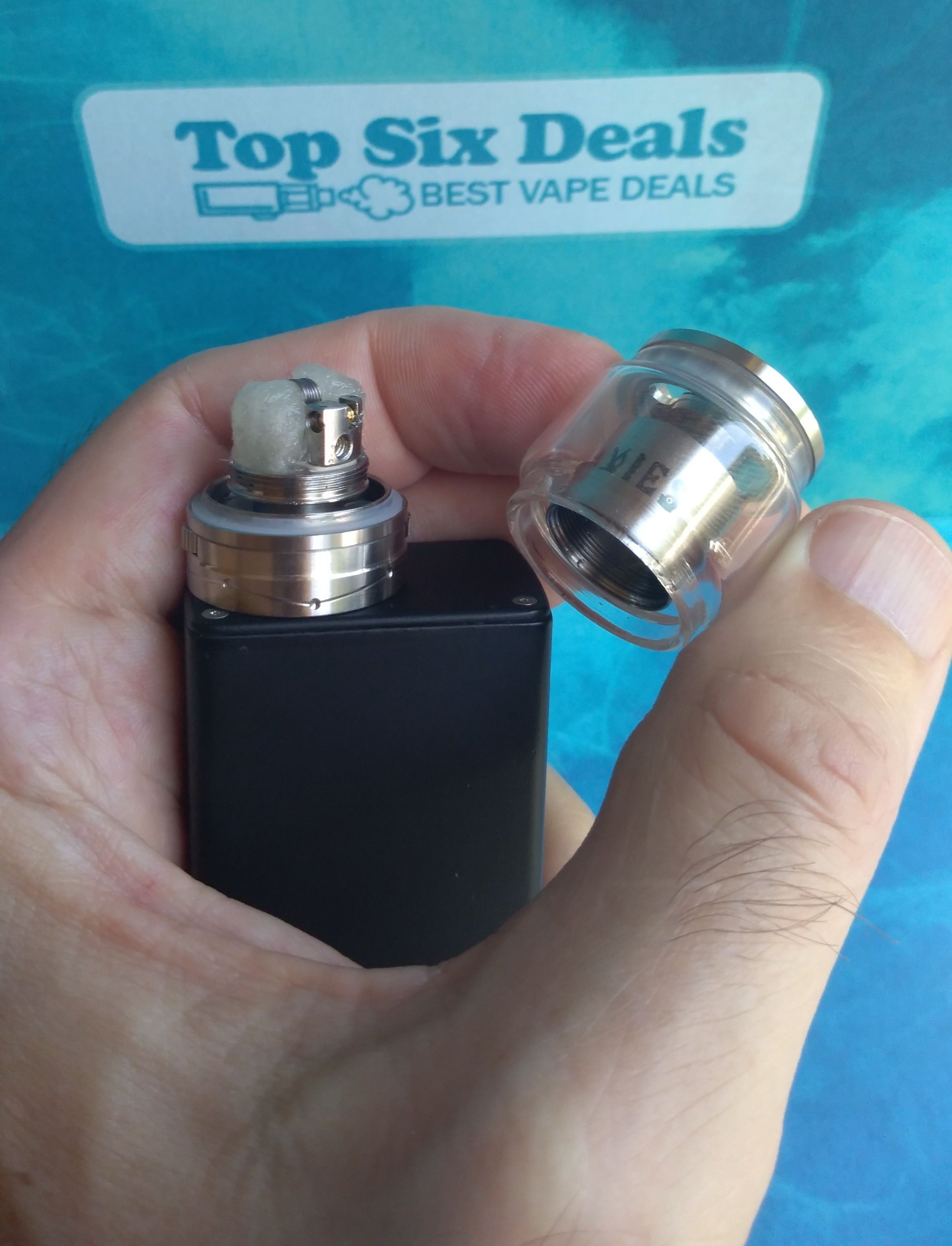 Vapefly Galaxies MTL RTA tank assembly